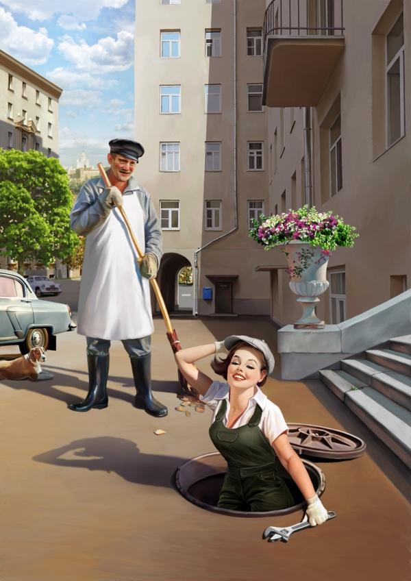 Советский Pin-Up от Натальи Ершовой (15 фото)