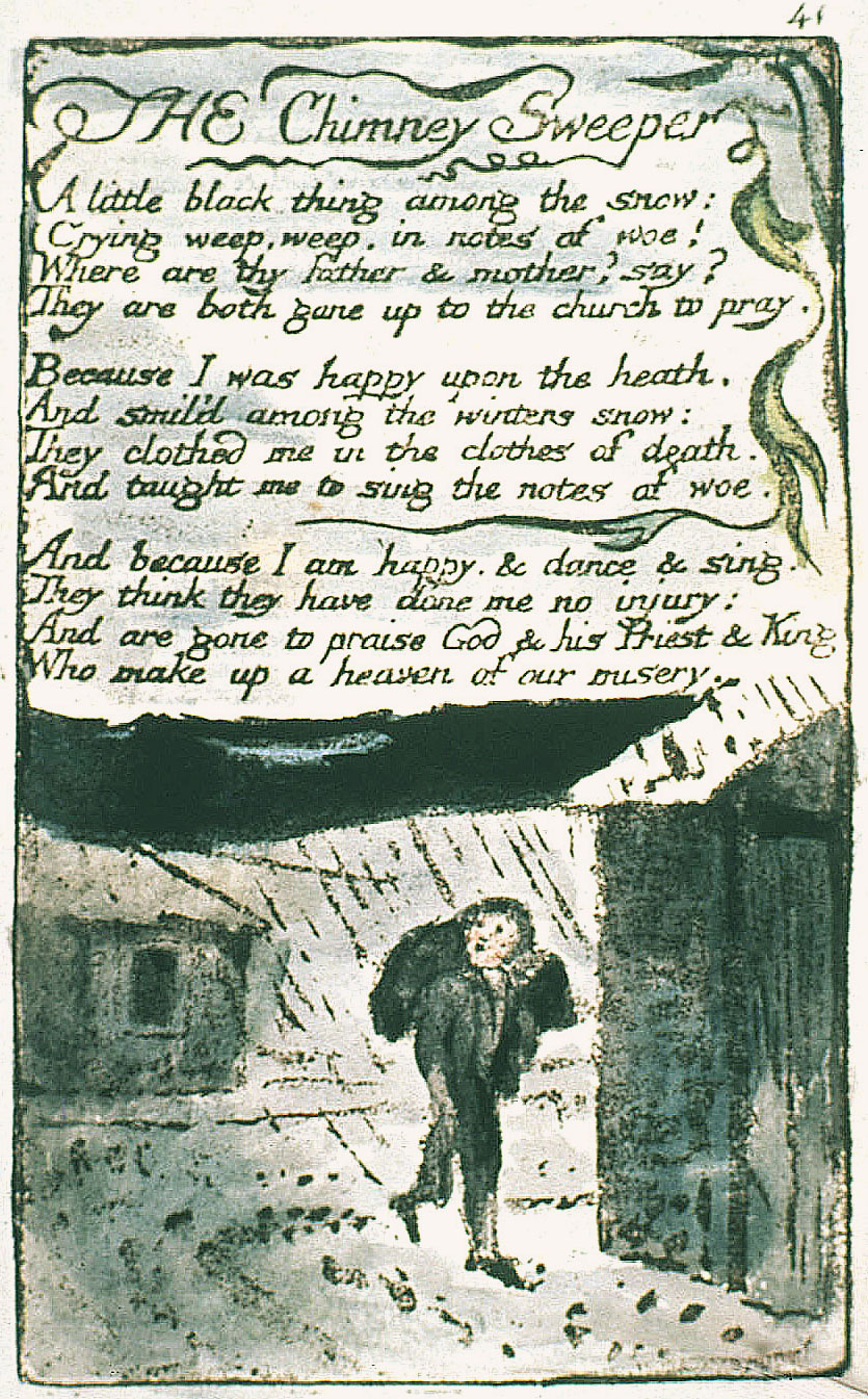 essays on the chimney sweeper by william blake William blake's the chimney sweeper the english poet, painter, illustrator and engraver, william blake, was born in essays & writing guides for students.
