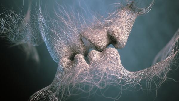 Арт поцелуи. Сборник арт клипарта (26 фото)