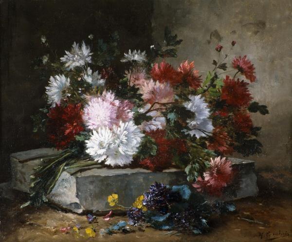 Натюрморты Eugene Henri Cauchois (112 работ)