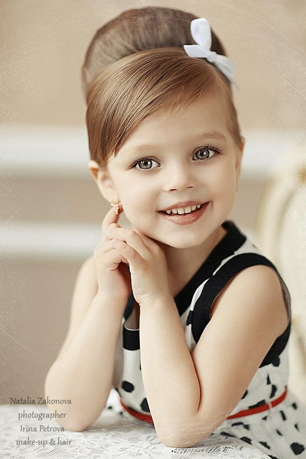 Прическа ретро для ребенка