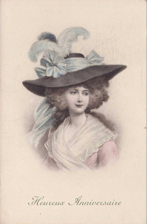Старинные открытки. Милые барышни (78 фото)