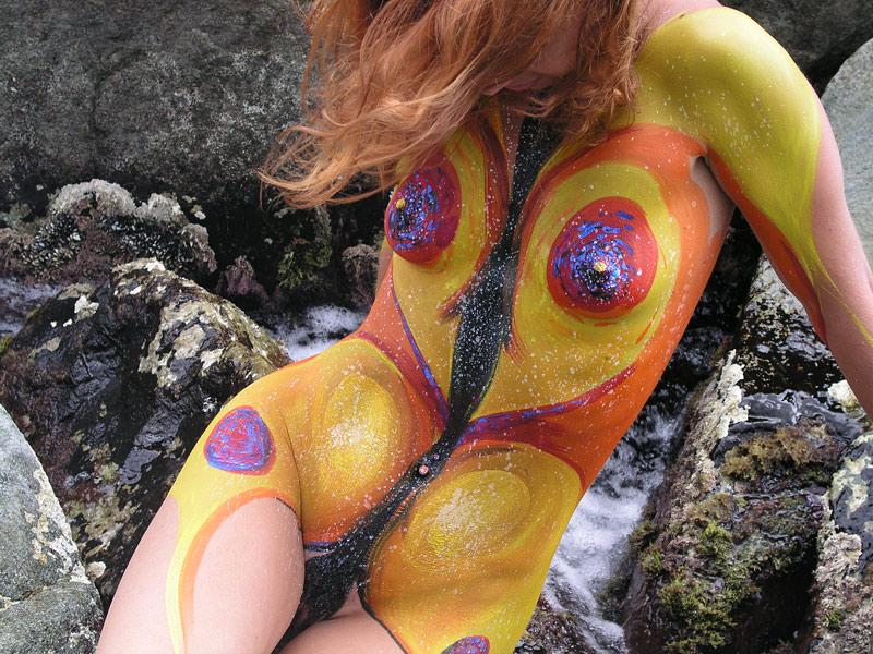 Bdsm erotic body paint