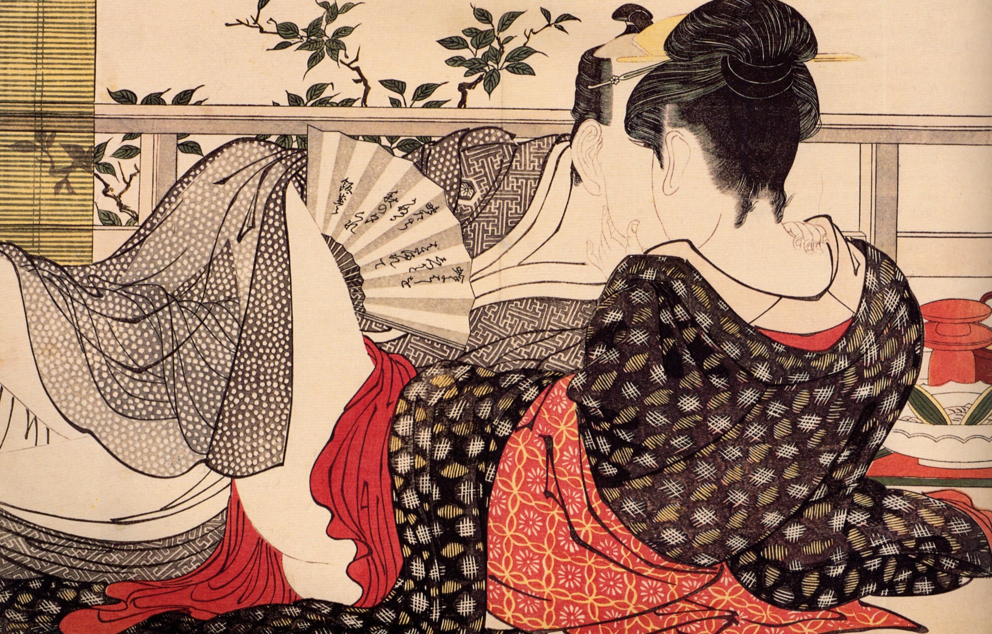 Японские картины эротические 9 фотография