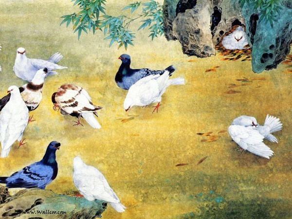 Китайская живопись Zou Chuan'an (74 фото)
