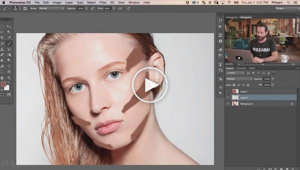 Контурированный мэйкап в Photoshop