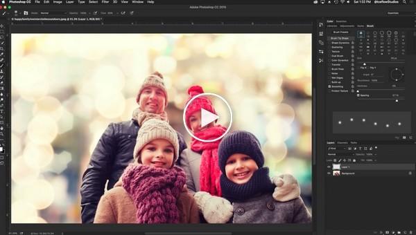 Как создать настоящий снег в Photoshop