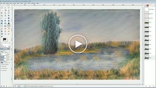 Компьютерная программа превращающая рисунки пользователя в произведения искусства