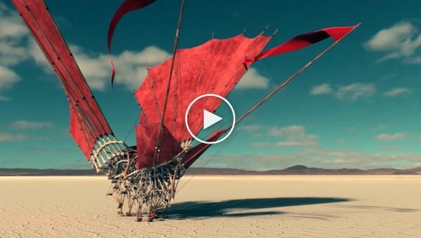 Красота в чистом виде. Шагающие воздушные змеи Strandbeest