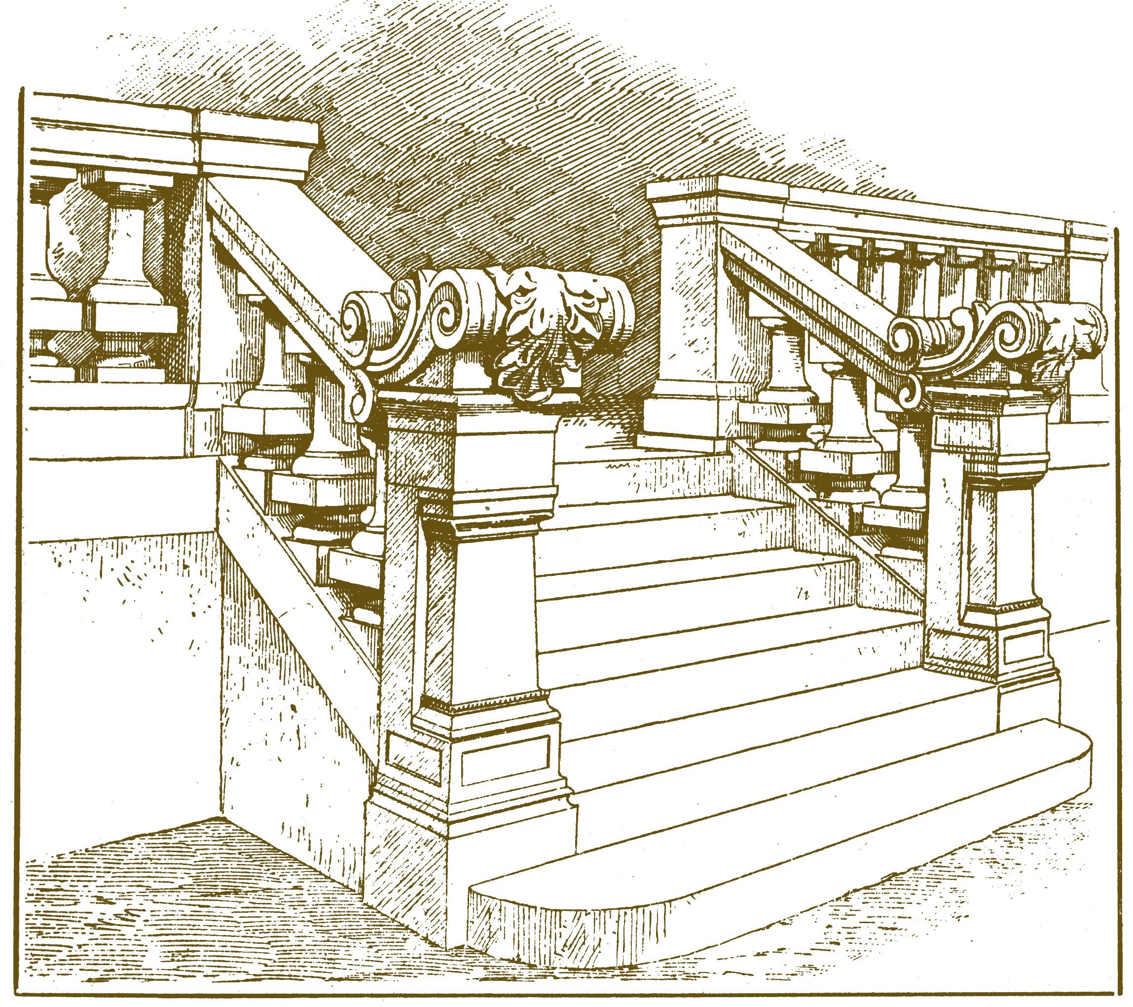 рисунок архитектурные элементы