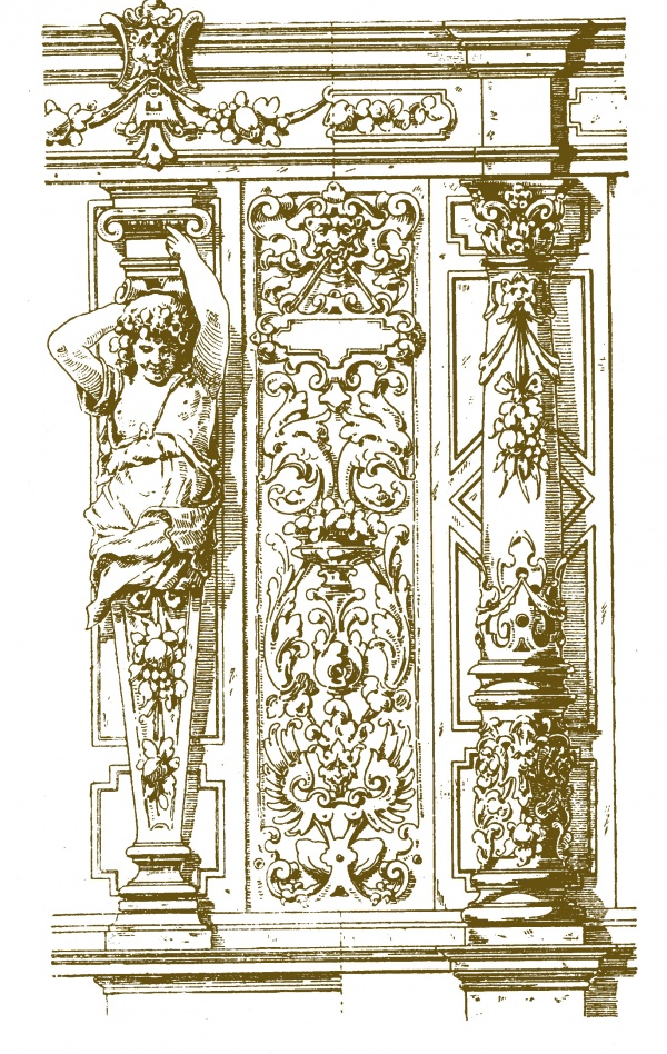 Архитектурные элементы в старинных гравюрах (4 часть) (78 фото)