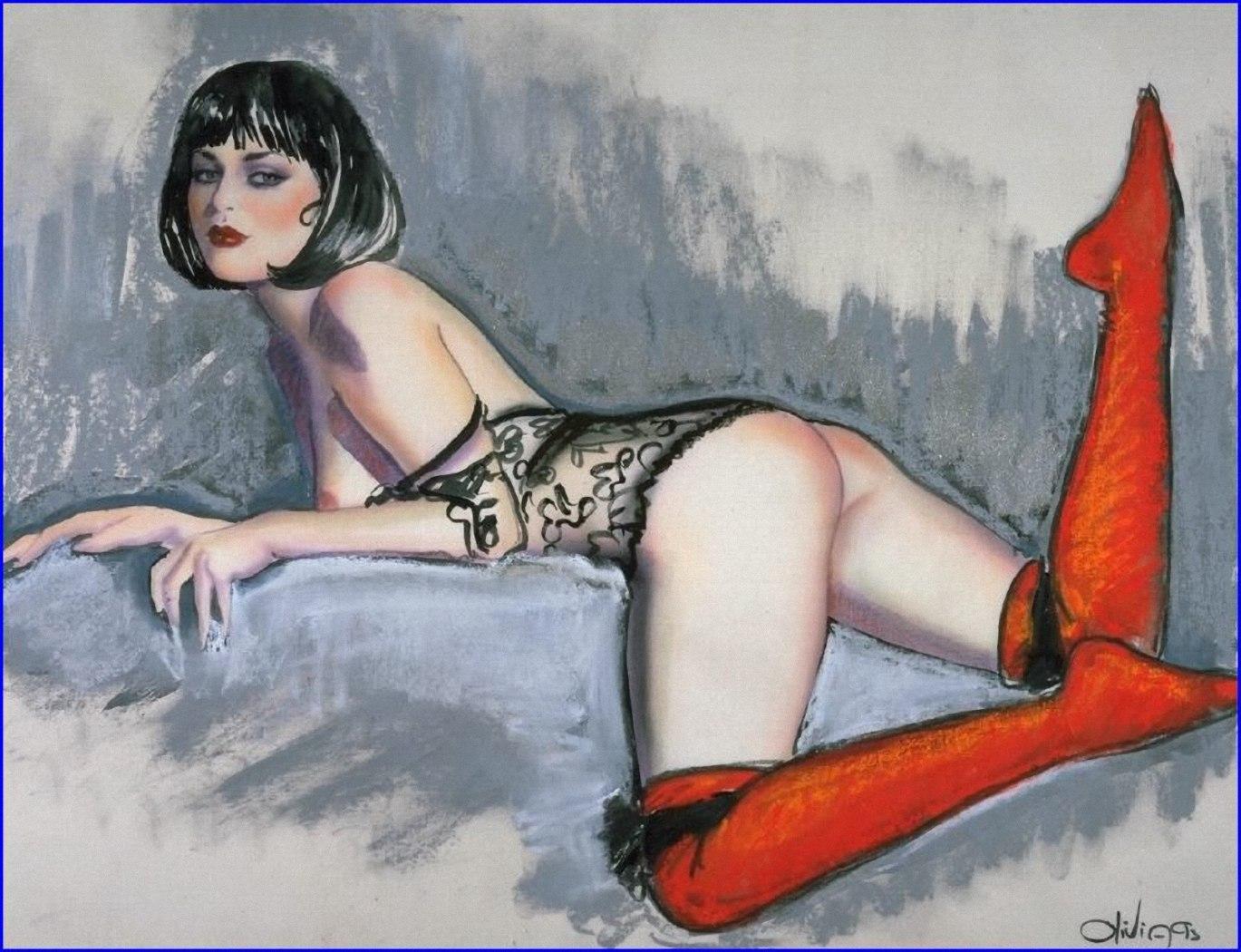 Рисовать фото эротика, Рисунки голых девушек - эротические картинки 6 фотография