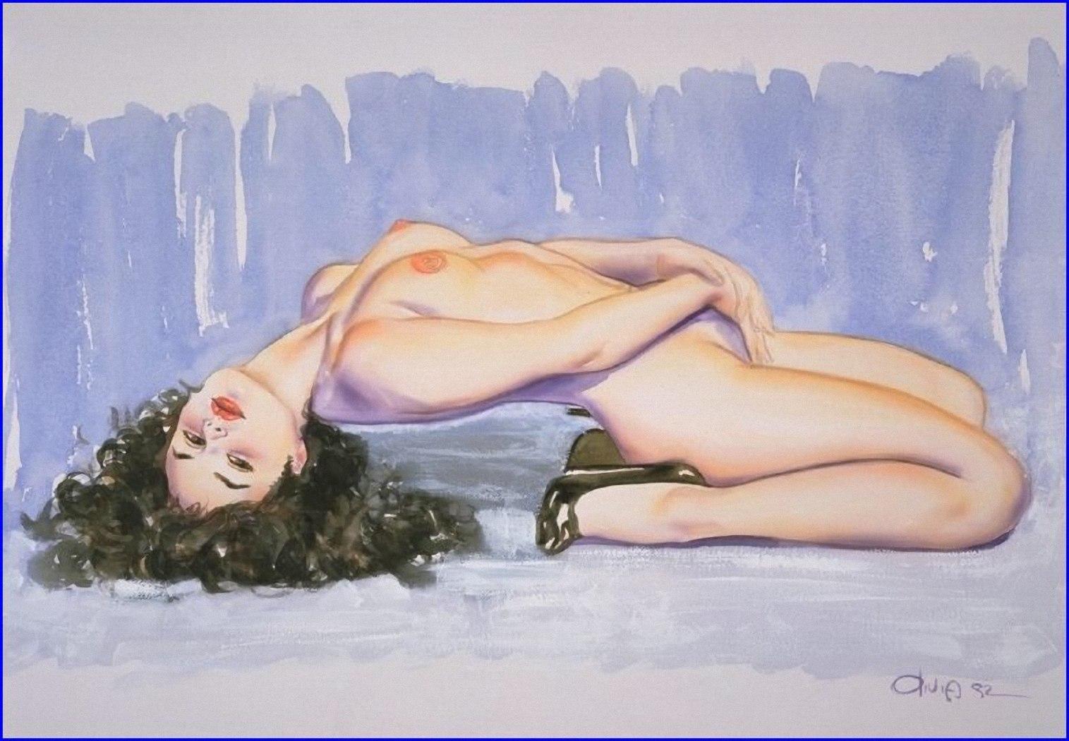 Рисовать фото эротика, Рисунки голых девушек - эротические картинки 7 фотография