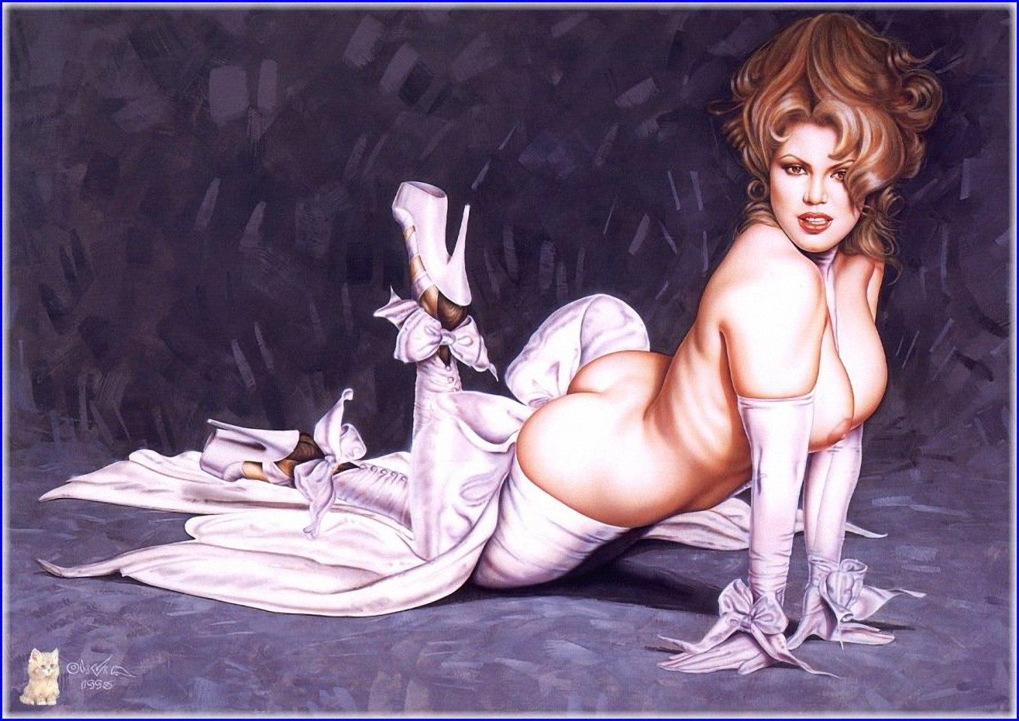Художники рисуют голых девушек 21 фотография
