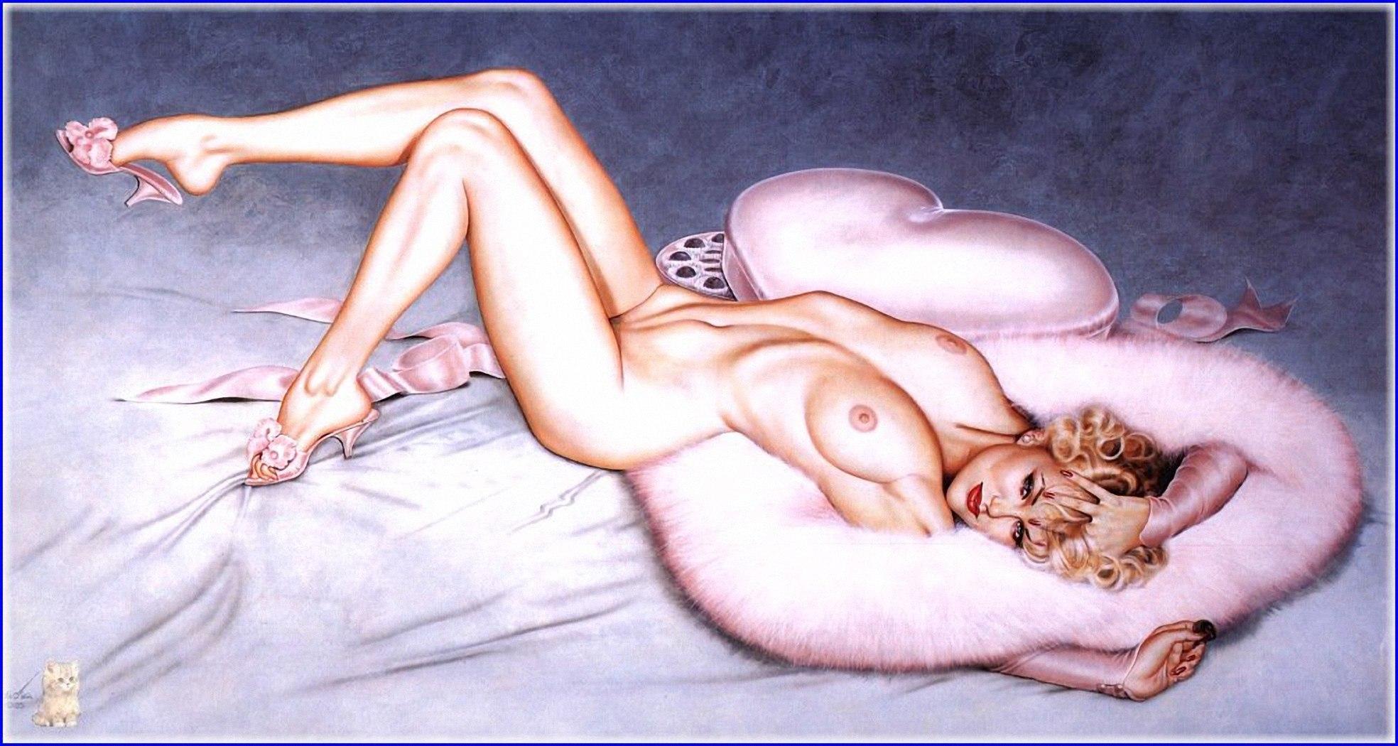 Художник рисует голую девушку 17 фотография