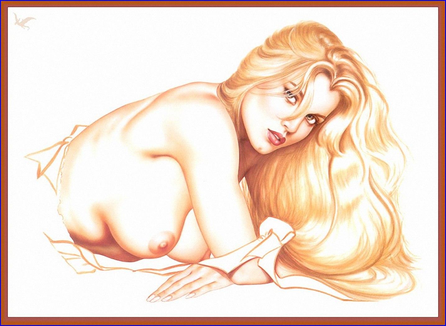 рисованные голые