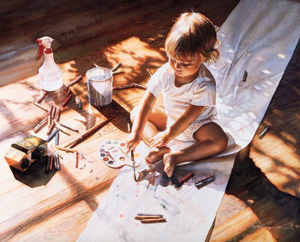 художник нарисовать картину с фотографии организм малыша справляется