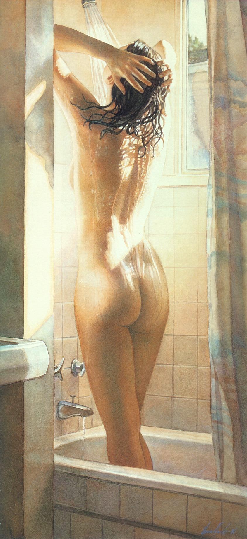 Nude art shower