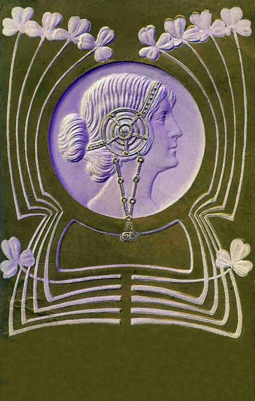 Женский образ на старой открытке. Часть 2 (349 фото)