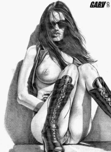 Красивые рисованые девушки стиле pin-up (833 фото)