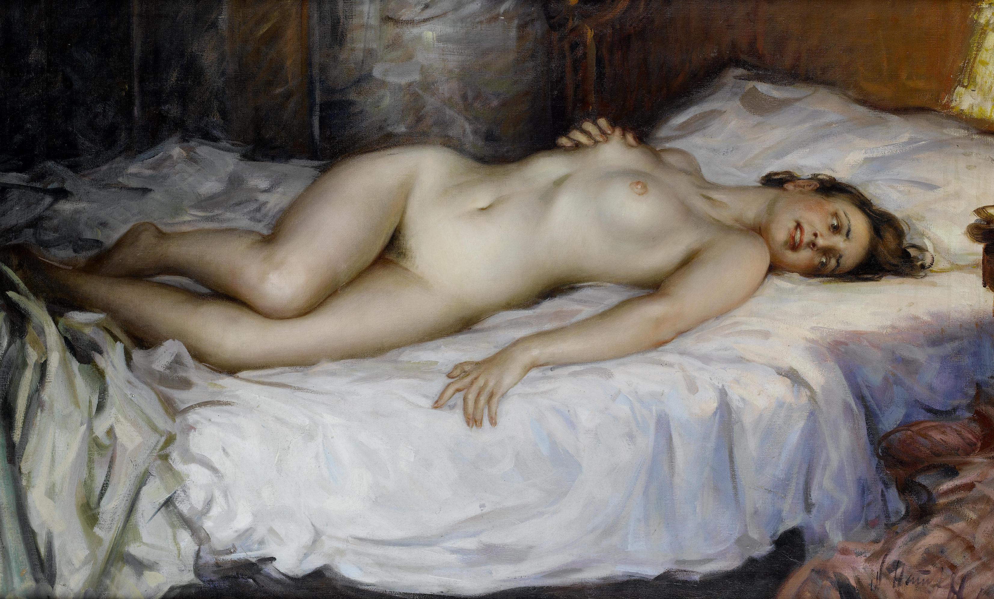 Художники рисуют голых девушек 2 фотография