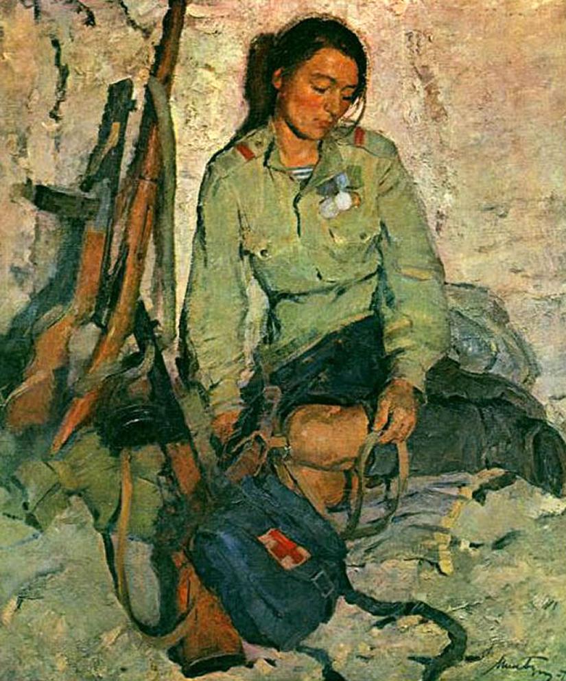 Рыжая медсестричка по своему подлечила солдата 12 фотография