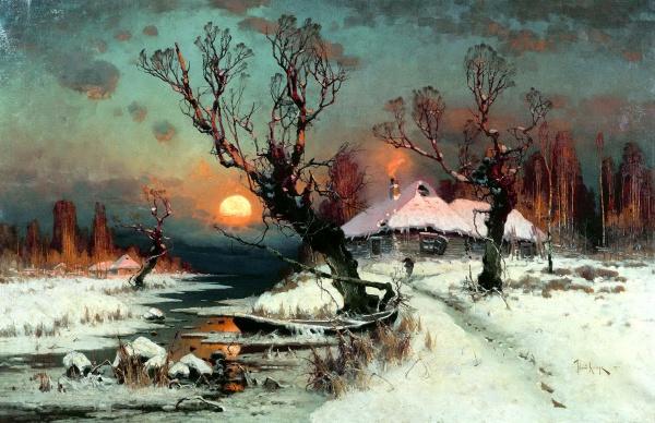Подборка репродукций картин русских художников-пейзажистов (139 фото)
