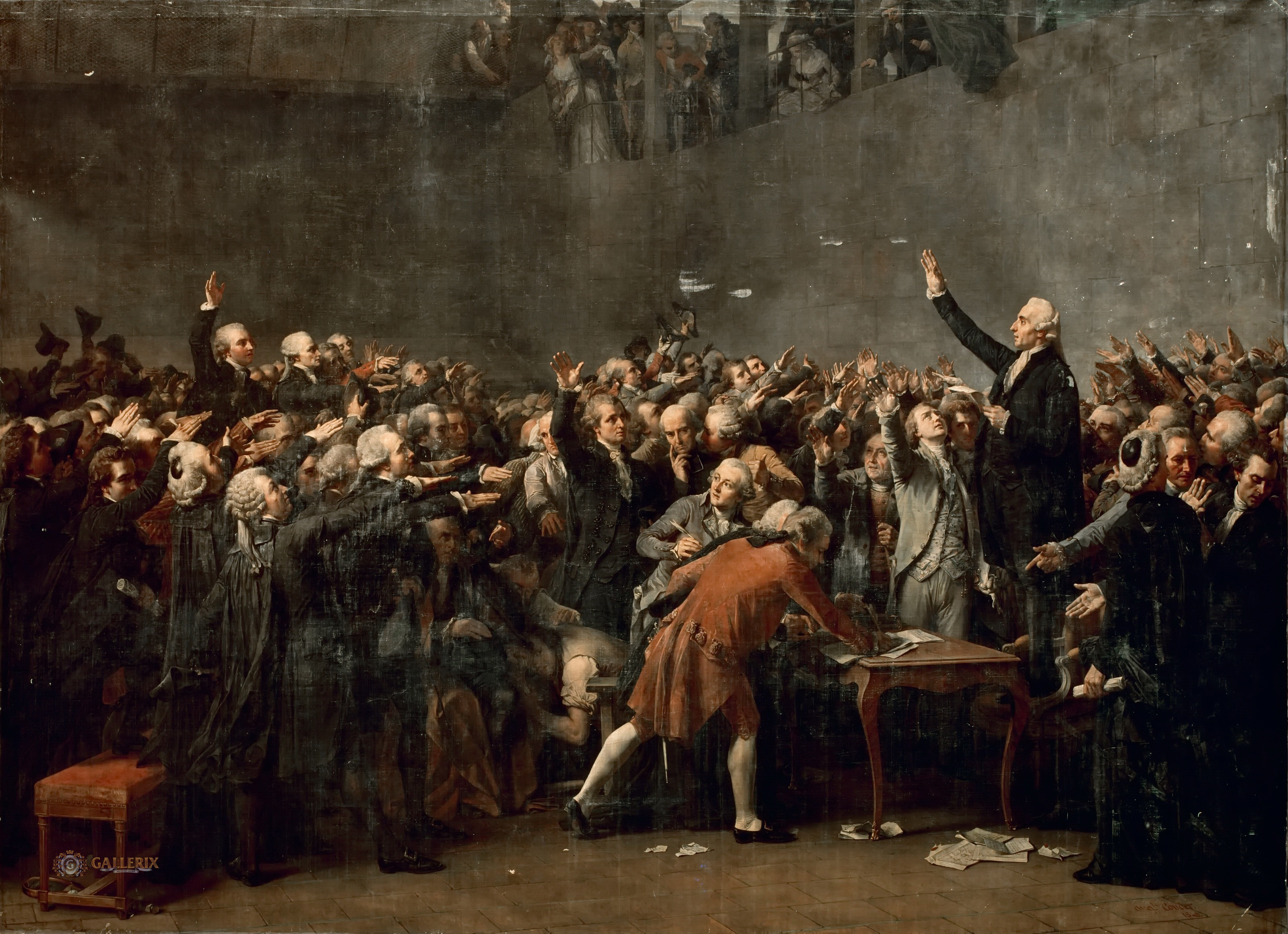 how were the tennis court oath and the american declaration of independence similar how were they di Tennis court oath 8 great fear •they were also afraid that arriving soldiers declaration of independence of the united states.