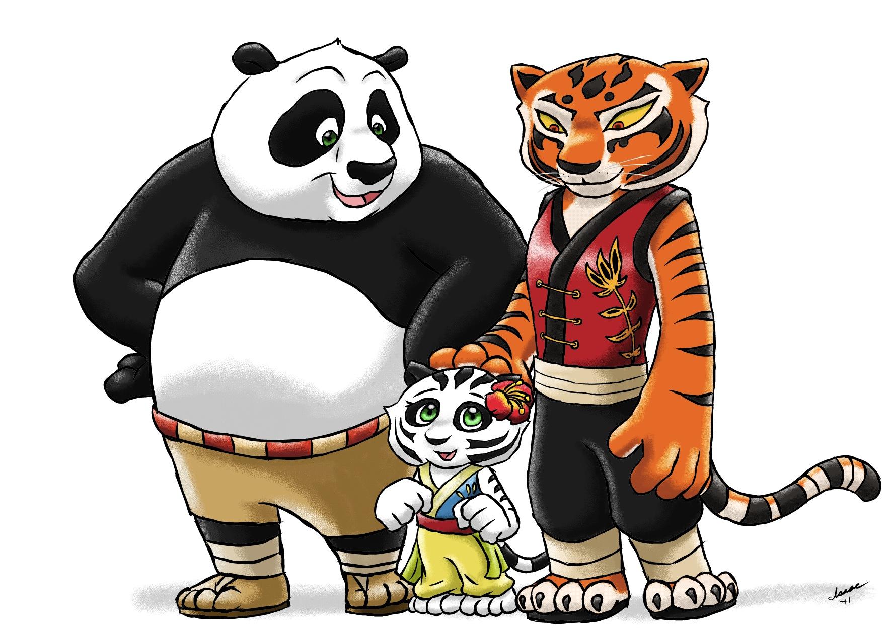 Картинки панды и тигра
