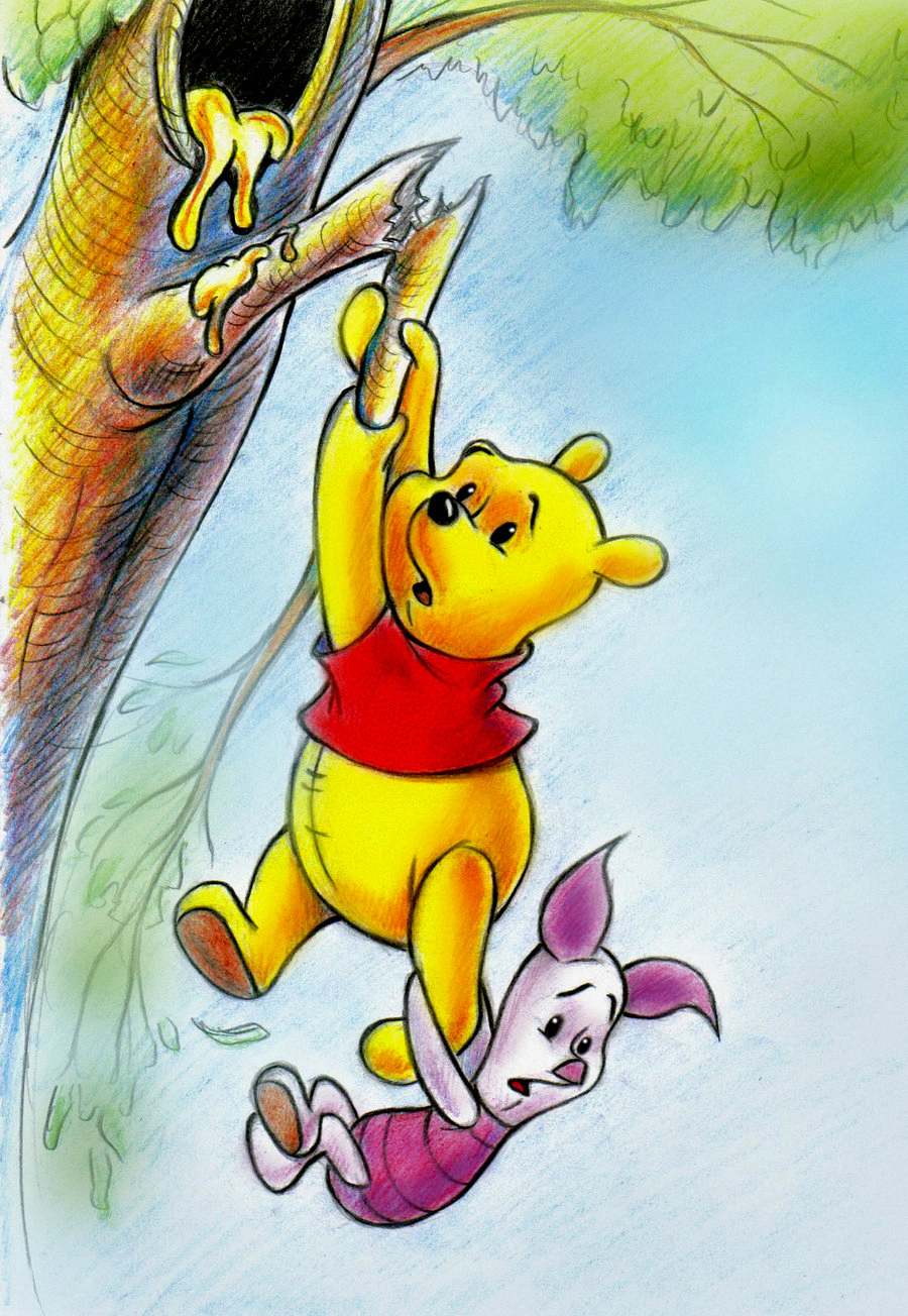 Piglet from winnie the pooh drawings