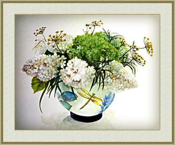 Hashimoto Fujico. Цветочные акварели (74 работ)