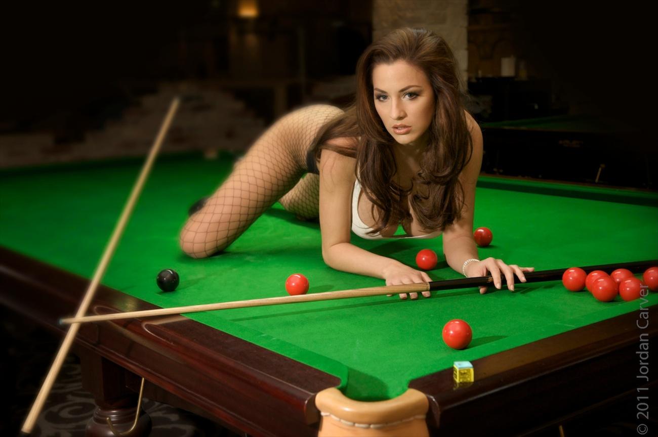 Hot Girls Playing Billiards