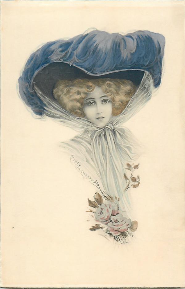 Старинные открытки. Lovely ladies (72 фото)