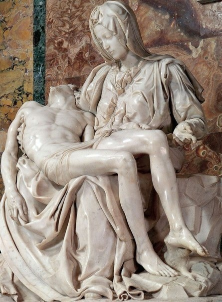 Знаменитая Пьета Микеланджело Буонарроти, 1499 год (7 фото)