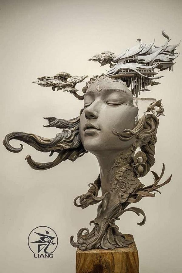 Новая работа скульптора Yuan Xing Liang (8 фото)