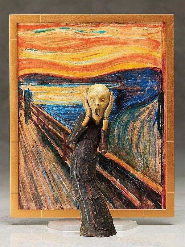 Подвижная скульптура сделанная по картине Мунка Крик (7 фото)