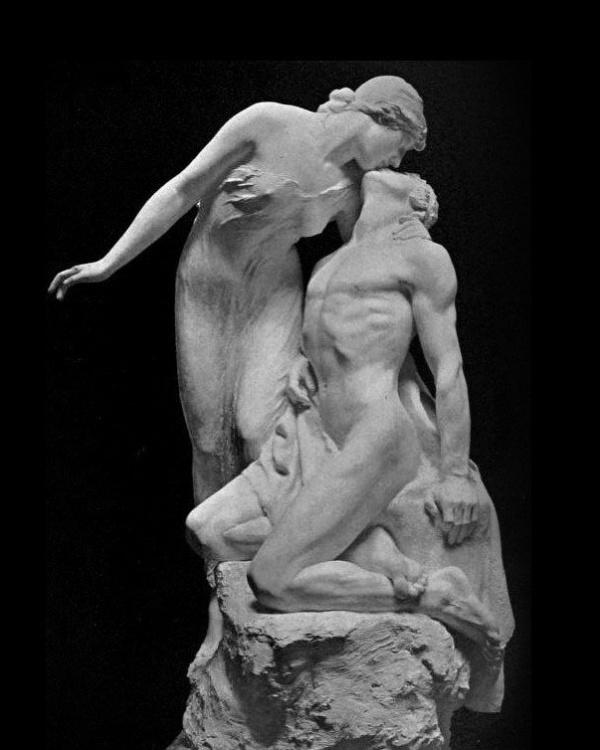 Поцелуй в скульптуре (6 фото)