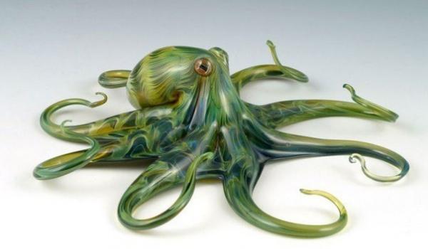 Скотт Биссон – художник-стеклодув из города Филомат, США (9 фото)