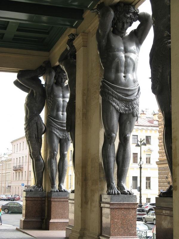 Скулптуры Атлант (8 фото)
