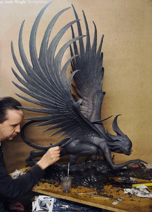 Скульптор Andy Wright (8 фото)
