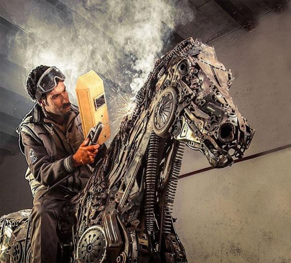 Скульптор Hasan Novrozi (16 фото)