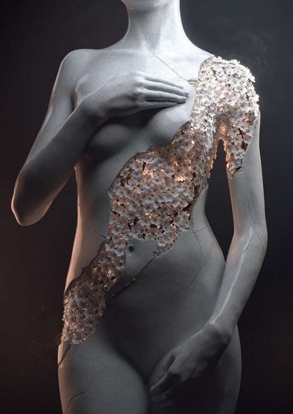 Скульптор Jean-Michel Bihorel. Flower Figures (6 фото)