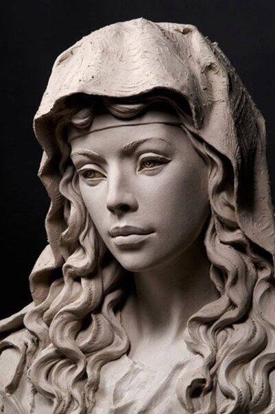 Скульптор Philippe Faraut. Скульптуры из глины (6 фото)