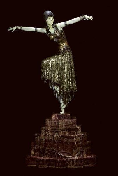 Скульптор Деметр Чипарус (1886-1947). Бронзовый танец Ар-деко (6 фото)