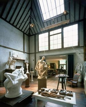 Скульптурная мастерская (6 фото)