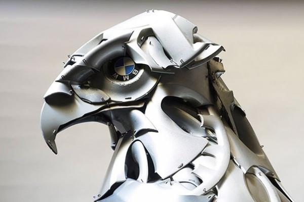 Скульптуры животные из железа Автор Hasan Novrozi (5 фото)