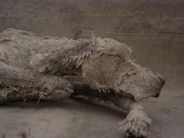 Собаки из мешковины от скульптора Хелен Томпсон (10 фото)