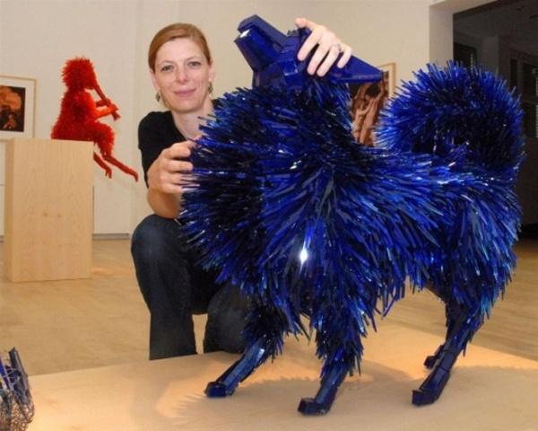 Стеклянные животные скульптора Marta Klonowska (10 фото)