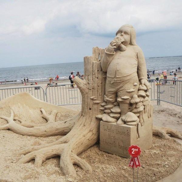 Фестиваль скульптур из песка (8 фото)