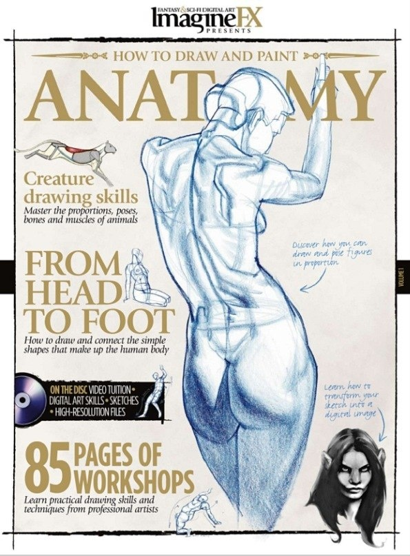 ImagineFX. Anatomy 2010 (40 работ)